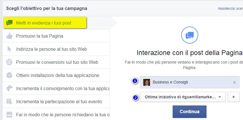 come promuovere un'attività su facebook